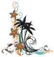 Palm trees holiday vector image
