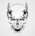 Devil Skull vector image