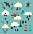 Retro Weather Icons Set vector image