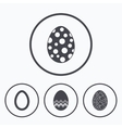 Easter eggs signs Circles and floral patterns vector image vector image