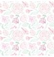Outline Floral Pattern vector image
