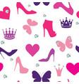 Glamorous seamless pattern vector image