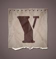 Alphabet in retro style vector image
