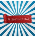 Friendship Day red curved Ribbon vector image