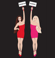 blondes and brunettes vector image