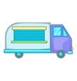 Minivan family car icon cartoon style vector image