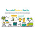 successful business start up vector image