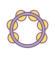 tambourine musical instrument icon vector image