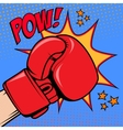 Human hand in pop art style with boxing glove Pow vector image vector image