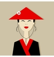Asian woman portrait for your design vector image vector image