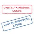 united kingdom leeds textile stamps vector image