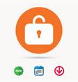 lock icon privacy locker sign vector image
