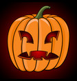 halloween pumpkin hand drawn colored sketch vector image