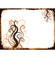 grunge swirls and curls vector image vector image