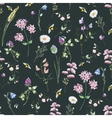 Watercolor wildflower pattern vector image