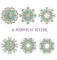 Set mandalas Round Ornament Pattern Vintage vector image