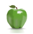 green ripe apple isolated over white vector image