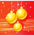 Bright Christmas greeting card vector image