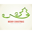 Christmas green tree from ribbon background vector image