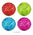 Colorful watercolor circles eps 8 vector image