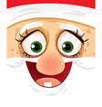 Crazy Eyes Santa - Cartoon vector image