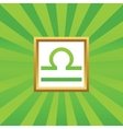 Libra picture icon vector image