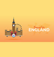 travel to england airplane with attractions vector image