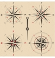 vintage compasses set vector image