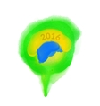 Watercolor Brazilian flag with the inscription vector image