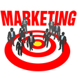Business people team target marketing vector image vector image