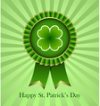 St Patricks Day Rosette Ribbon vector image vector image