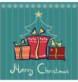 Three Christmas gift boxes vector image
