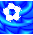 Soccer ball on abstract background vector image vector image