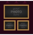 Set of 3 photo frames vector image vector image
