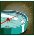 compass east vector image