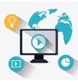 Digital and social marketing strategies vector image