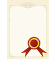 Diploma stamp vector image