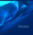 abstract blue digital futuristic background design vector image