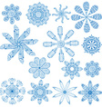 blue circular ornament set vector image