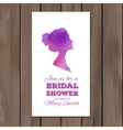 Bridal shower invitation with watercolor elements vector image