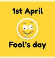 fool day april holiday greeting card banner comic vector image