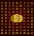 golden ornamental elements for design vector image