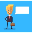 Handsome scandinavian businessman with briefcase vector image