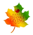 Happy Thanksgiving celebration background with vector image