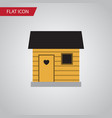 isolated barn flat icon stabling element vector image