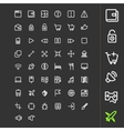 Line icons for applications and websites vector image