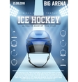 Poster Template of Ice Hockey Games vector image