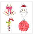 Set of Christmas Colorful Line Style Icons vector image