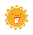 Sun funny cartoon graphic design vector image