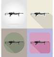 weapon flat icons 12 vector image